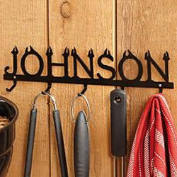 Personalized Steel Name BBQ Tool Holder