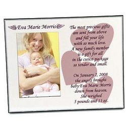 Personalized Gift from Angels Baby Girl Picture Frame