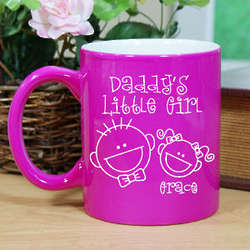 Personalized Daddy's Little Girl Two-Tone Mug