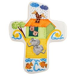 Noah's Ark Ceramic Wall Cross