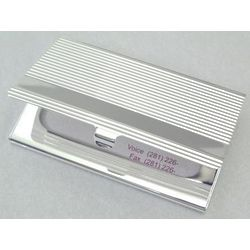 Engraved Linear Business Card Case