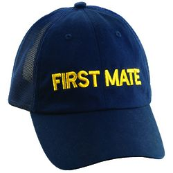 Embroidered First Mate Baseball Cap