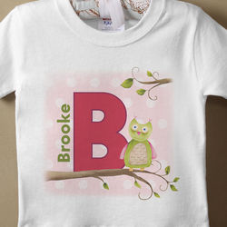 Owl About You Personalized Infant Girl's T-Shirt