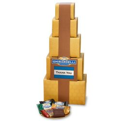 Gold Gift Tower of Assorted Chocolates