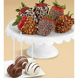 Cake Pops and Half Dozen Chocolate Covered Strawberries