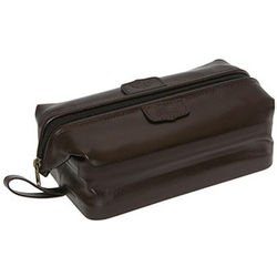 Cowhide Leather Toiletry Bag