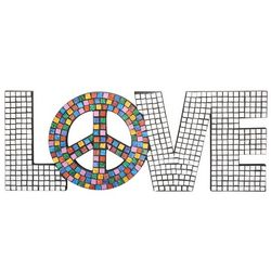 Mirrored Love Peace Wall Art