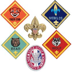 Boy Scouts of America Badge Magnet Set