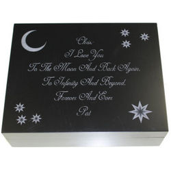 I Love You To The Moon and Back Personalized Keepsake Box