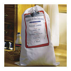 Personalized Collegiate Laundry Bag and Book