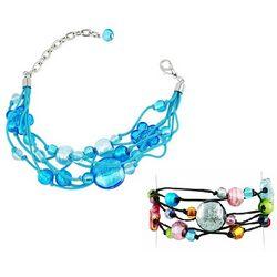 Cancun Murano Glass Beads & Flowers Multi-strand Bracelet