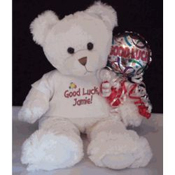 "Personalized 16"" Good Luck Teddy Bear"