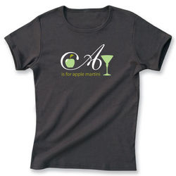 A is for Apple Martini T-Shirt