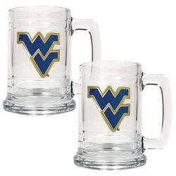 West Virginia Mountaineers NCAA Glass Tankard Set
