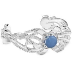 Perfect Presence Blue Chalcedony Cuff Bracelet