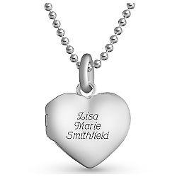 Beaded Chain Heart Locket