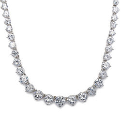 20 Carat Simulated Diamond Eternity Necklace