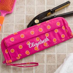 Personalized Pink & Orange Flat Iron Case