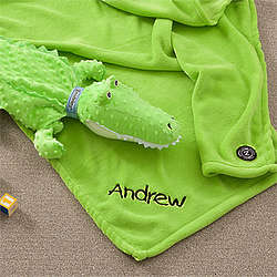 Personalized Crocodile Blanket Pet