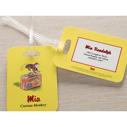 Personalized Curious George Luggage Tags