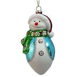 Brighten The Season Santa Snowman Ornament