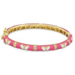 Hot Pink Enamel Baby Girl's Butterfly Bracelet