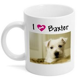 Personalized I Love My Dog Photo Mug