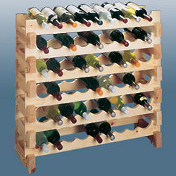 Pine Scallop Wine Bottle Rack