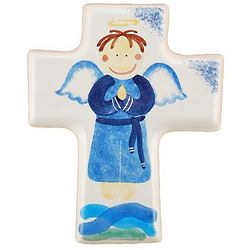 Boy Angel Ceramic Cross