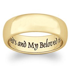 Gold Stainless Steel My Beloved Sentiment Band