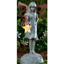 Fairy Garden Statue with Solar Star Lantern