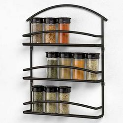 Black Euro Wall Mount Spice Rack