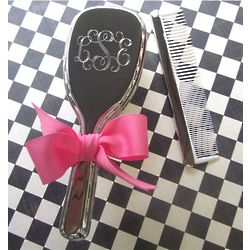 New Baby Girl's Monogrammed Vanity Brush and Comb Set