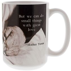 Saint Mother Teresa 'Small Things' Quote Mug