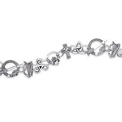 Symbols of Ireland Charm Bracelet