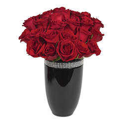 Be My Valentine Roses with Vase