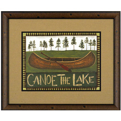 Canoe the Lake Framed Print