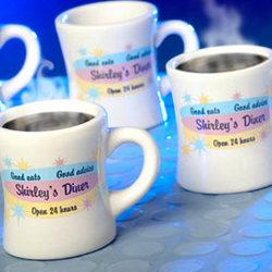 Personalized Ceramic Diner Mug Set