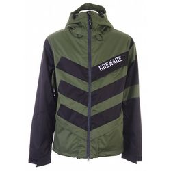 Chevron Green Snowboard Jacket