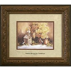 Memorial Framed Art - Birdhouse & Flowers