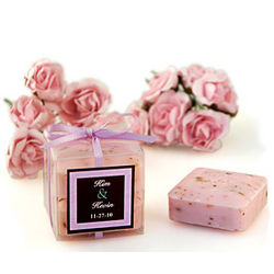 Rose Square Soaps Favor Box