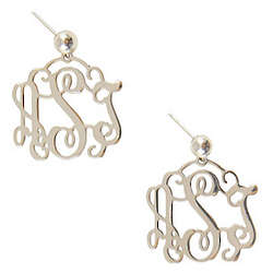 Personalized Medium Filigree Earrings
