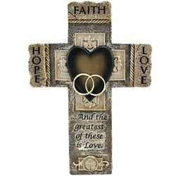Faith, Hope and Love Marriage Cross