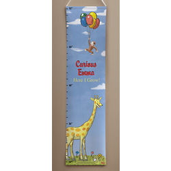 Personalized Curious George Growth Chart