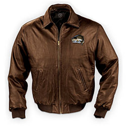 Gone Fishing Men's Leather Jacket
