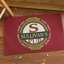 Personalized Classic Tavern Bar Doormat