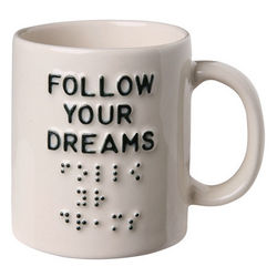 Follow Your Dreams Braille Mug