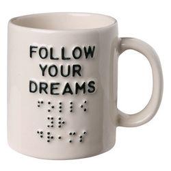 Follow Your Dreams Braille Mug