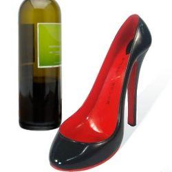 Clouded Ruby High Heel Wine Bottle Holder