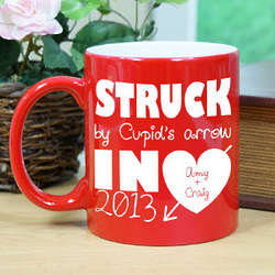 Personalized Struck By Cupids Arrow Two-Tone Mug